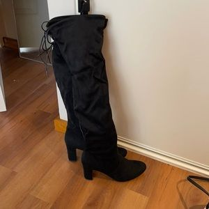 Brand New Thigh High Black Swede Boots size 10